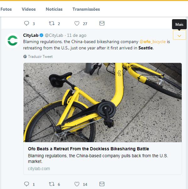 Chinesa Ofo desistiu de operar bicicletas compartilhadas em Seattle