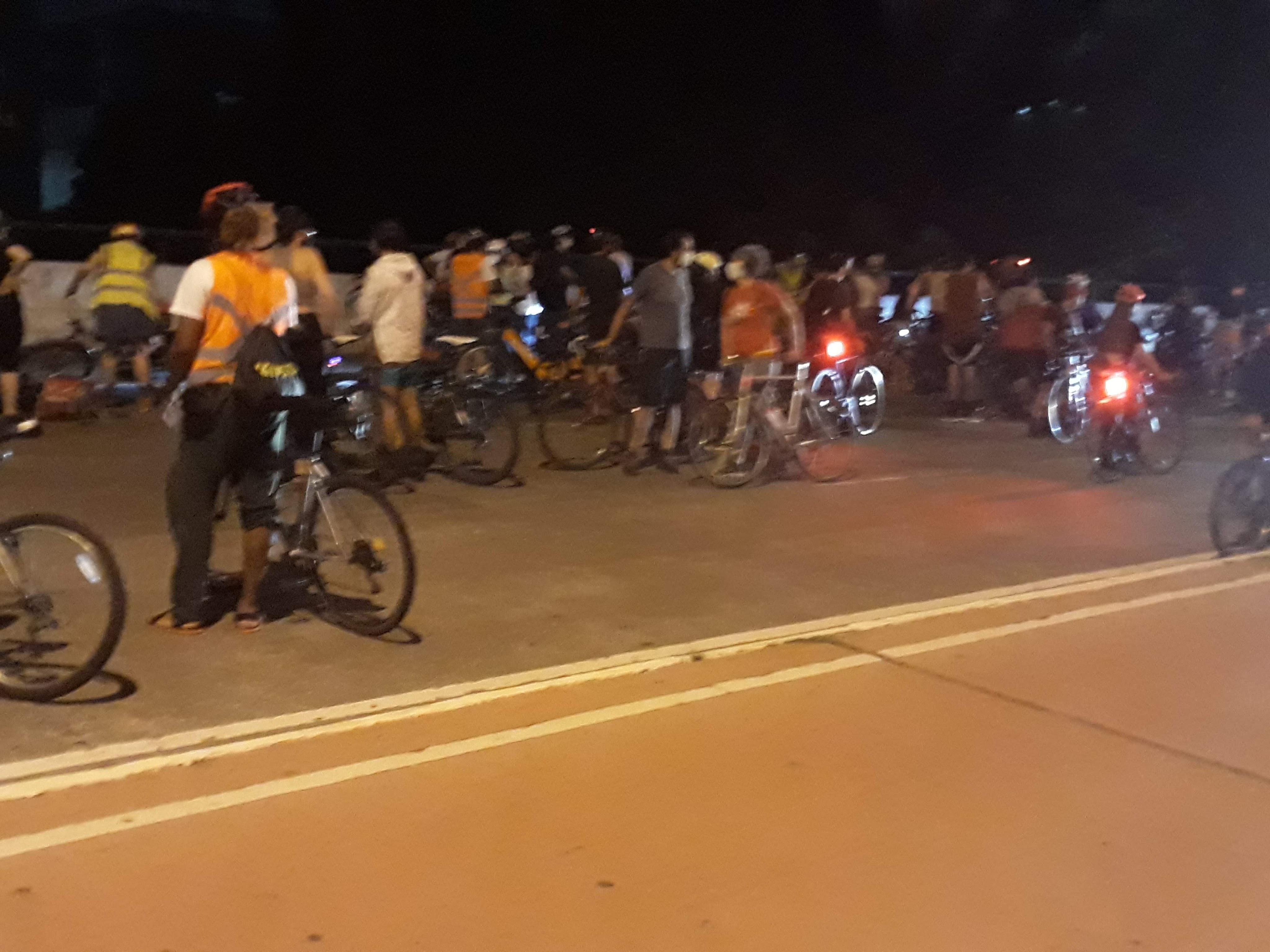 Local exato do atropelamento na avenida Paulo VI