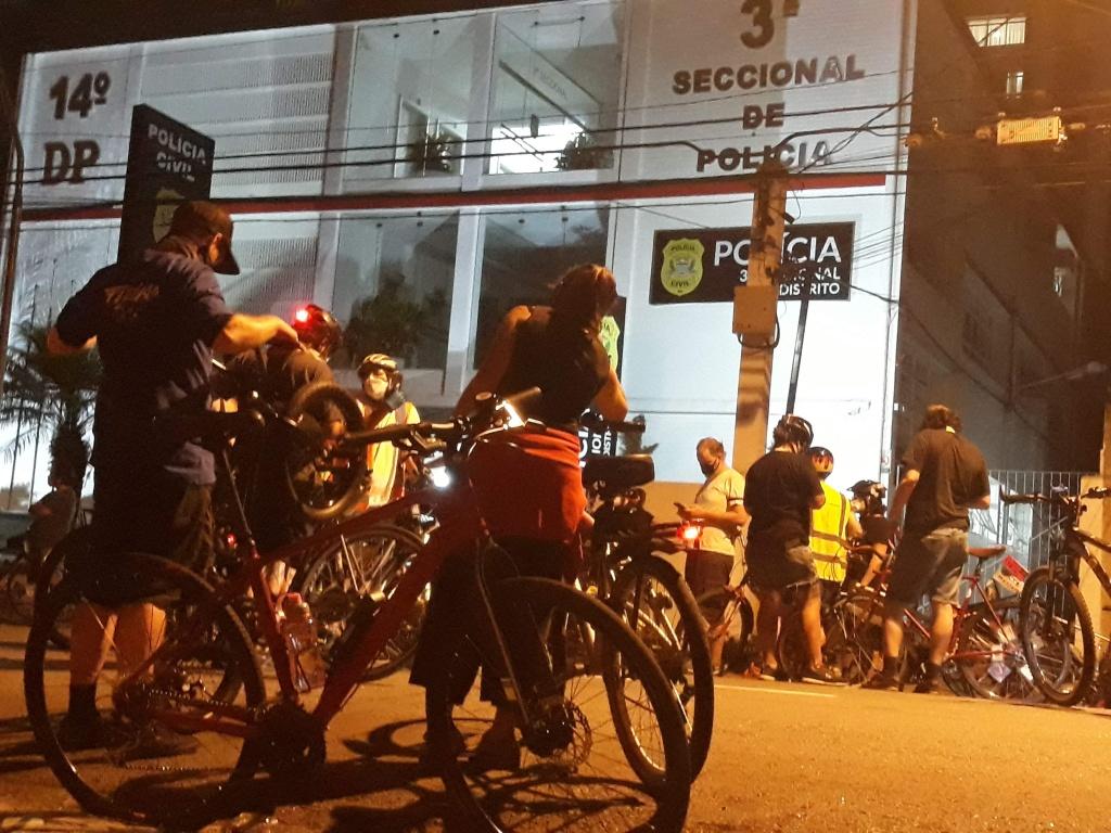 14º Distrio Policial de Pinheiros onde terminou a manifgestação